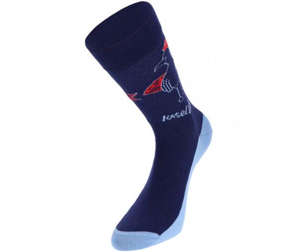 InselLeben Unisex Socken Möwe mit Board
