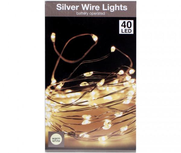 LED Dekodraht-Lichterkette 40 LED