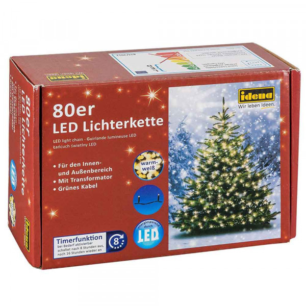 Idena LED Lichterkette 80er
