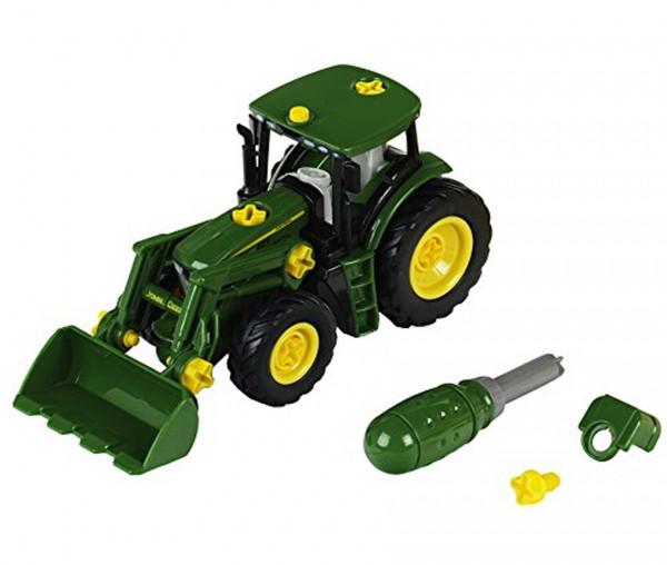 John Deere Traktor mit Frontlader und Gewicht