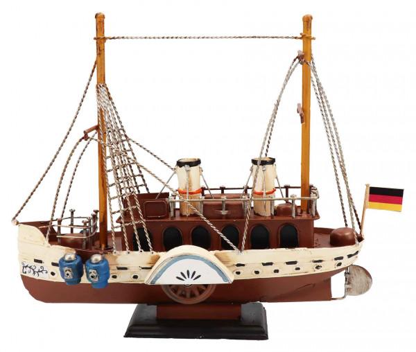 Tony Brown Metallschiff Raddampfer
