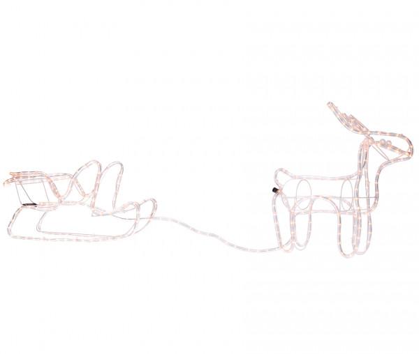 Lichtschlauch Rentier mit Schlitten
