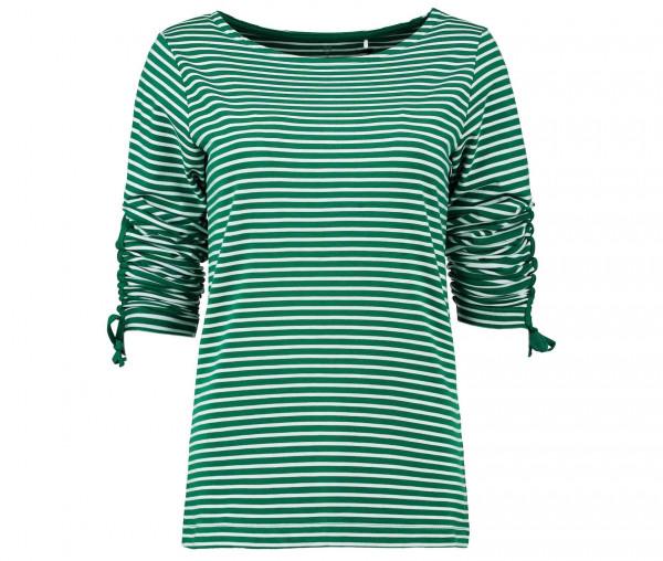 Julia Brown Damen Shirt mit Raffung