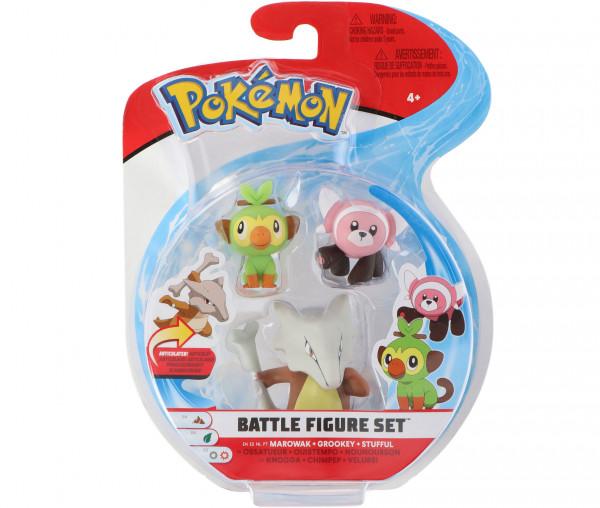 Pokémon Battle Figure Set Knogga, Chimpep und Velursi