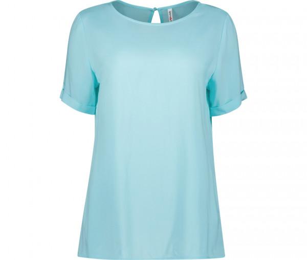 Marymaids Damen Bluse Lisa Unifarben