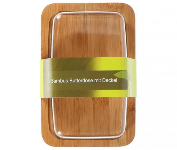 Tony Brown Bambus Butterdose mit Deckel