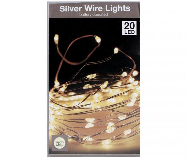 LED Dekodraht-Lichterkette 20 LED