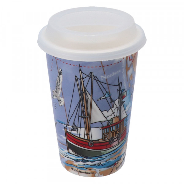 Tony Brown Coffee to go Becher Fischkutter