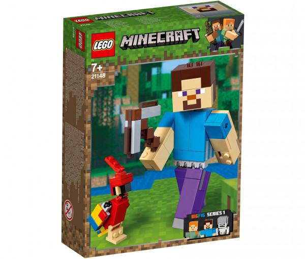 21148 LEGO® Minecraft™ BigFig Steve mit Papagei