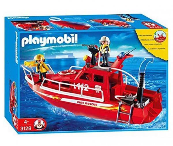 Playmobil 3128 - Feuerlöschboot mit Pumpe