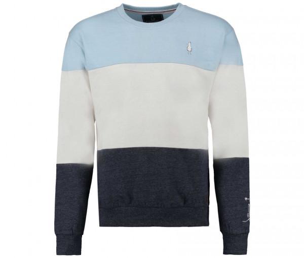 InselLeben Herren Sweatshirt Hubert mit Colorblock-Design