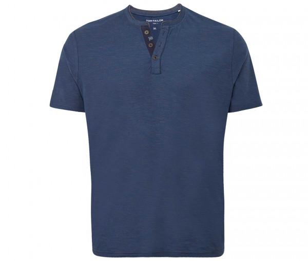 Tom Tailor Herren T-Shirt mit Knopfleiste