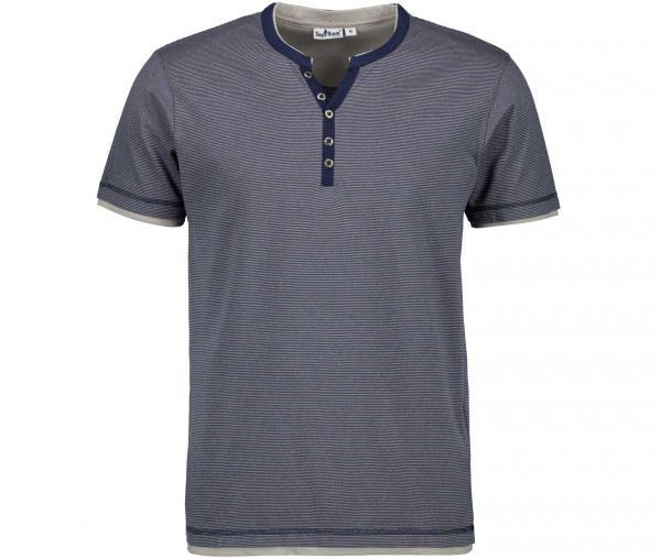 Tony Brown Herren Henley-Shirt
