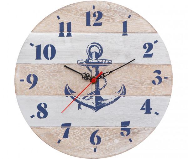 Tony Brown maritime Wanduhr Anker