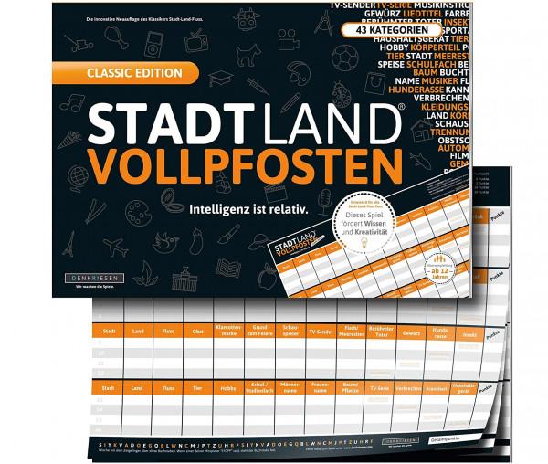 STADT LAND VOLLPFOSTEN® - Classic Edition - Intelligenz ist relativ