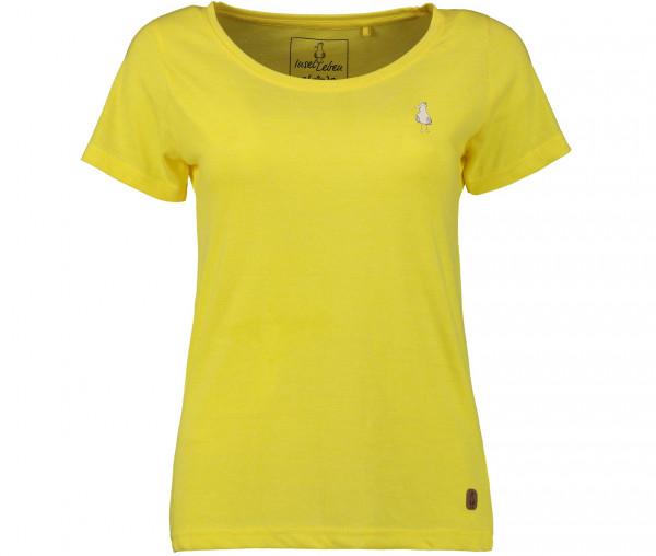 InselLeben Damen T-Shirt Frida Unifarben