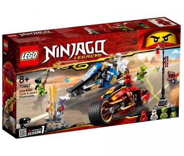 70667 LEGO® NINJAGO® Kais Feuer-Bike & Zanes Schneemobil