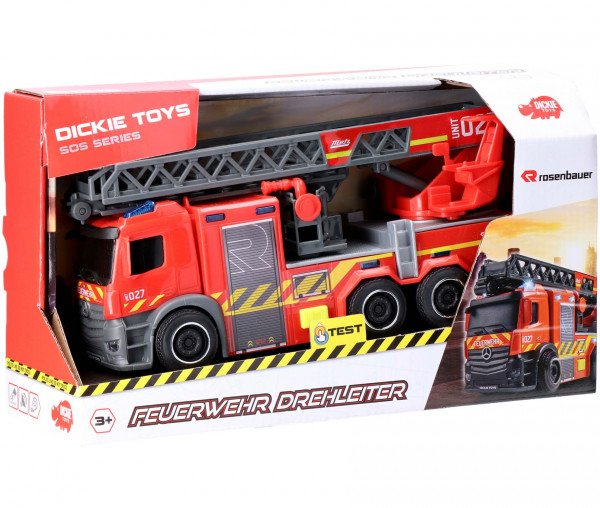 Dickie Toys Rosenbauer Feuerwehr Drehleiter
