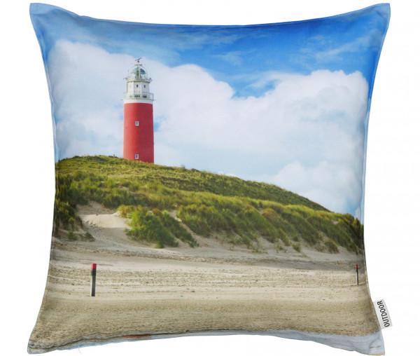 Viva Outdoor Dekokissen 45 x 45 cm Fotodruck Leuchtturm