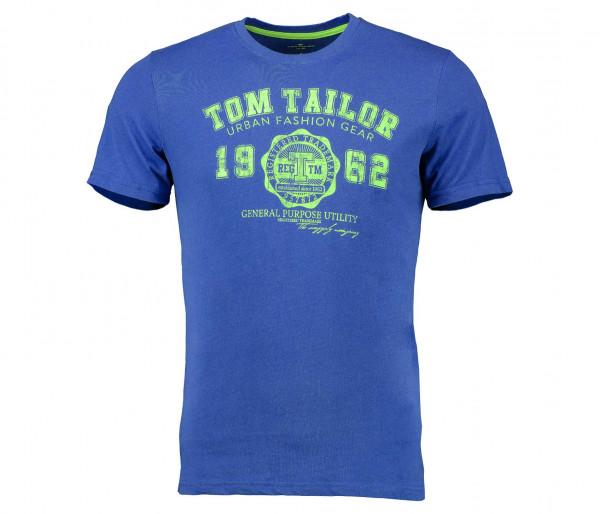 Tom Tailor Herren Logo T-Shirt uni rundhals