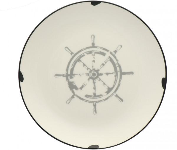 Tony Brown Teller in Emaille-Optik Steuerrad