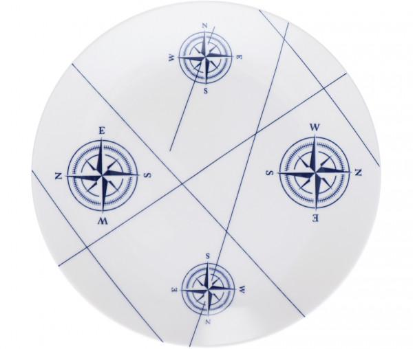Tony Brown Frühstücksteller Kompass
