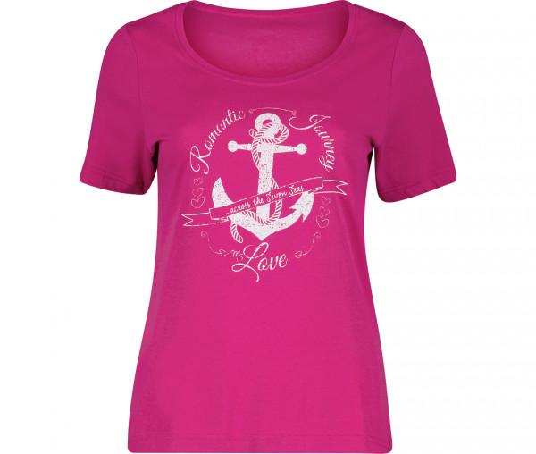 Julia Brown Damen T-Shirt Anker