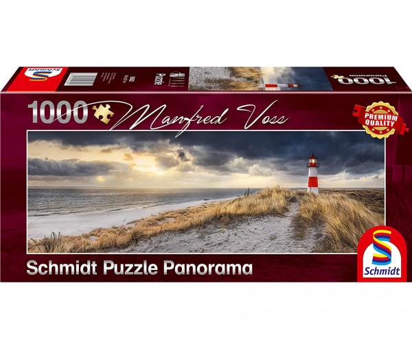 Schmidt Puzzle Panorama Leuchtturm Sylt