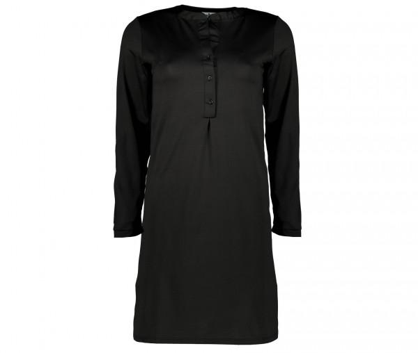 Julia Brown Damen Kleid mit Knopfleiste Unifarben